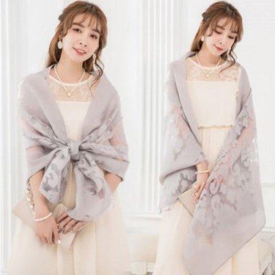 ショール シンプル 透かし編み エキゾチック エレガント 花柄 ドレス用 パーティー drgz1082