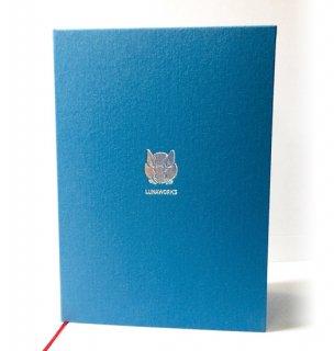 和暦日々是好日カバーつき 2021旧暦手帳(サックスブルー)
