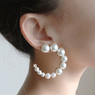 FORM PEARL  collon<br>-earring