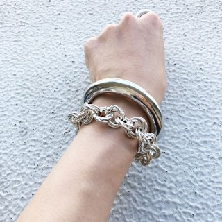 CROSSED RING SV/GD<br>-bracelet
