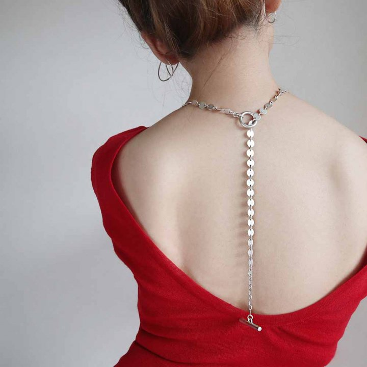 THIN  SV/GD<br>-necklace