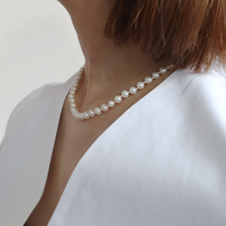 F PEARL  42 <br>-necklace
