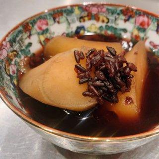 【秋季限定】鳴門金時と黒米の生姜シロップ