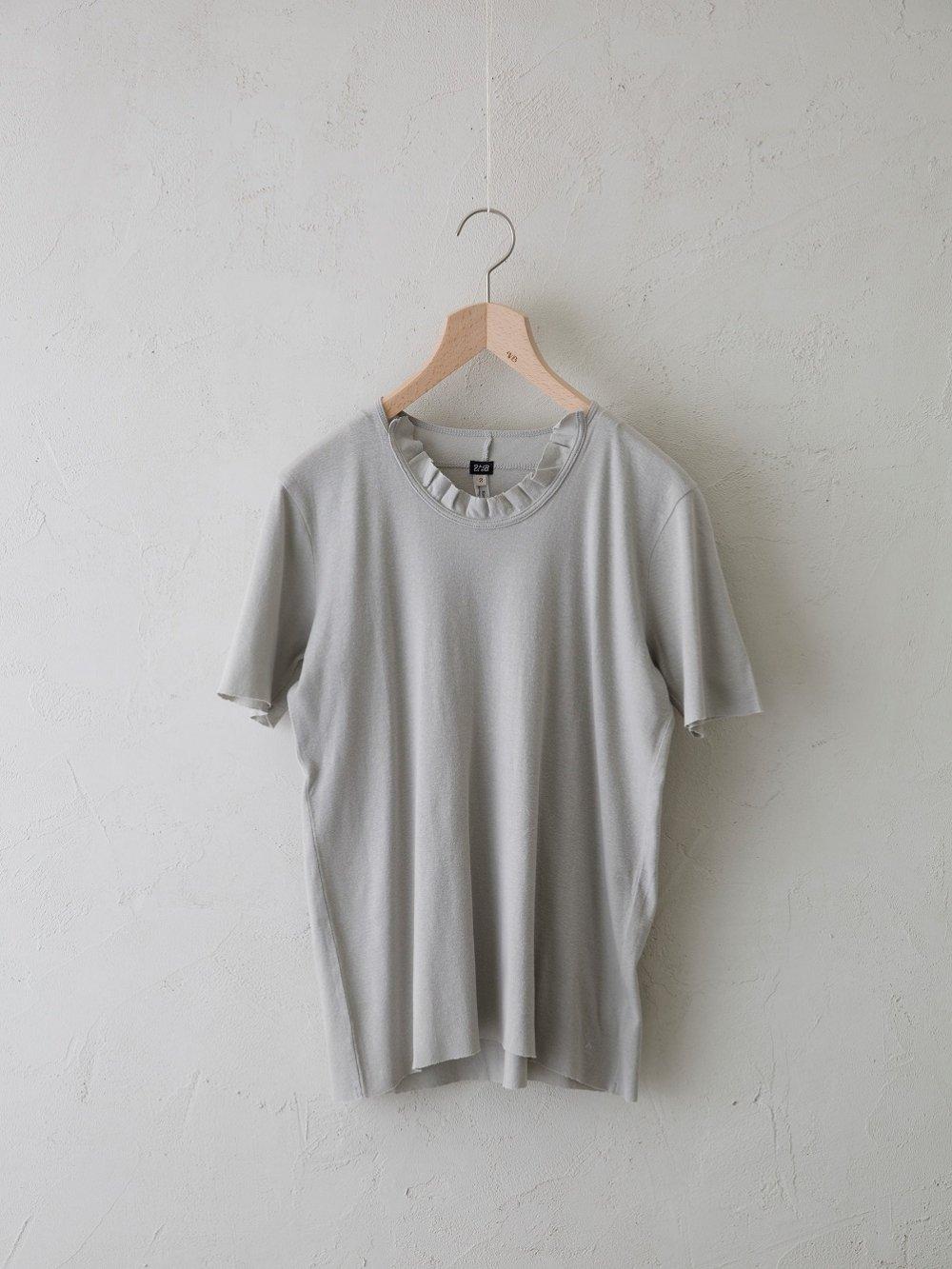 & 12 Linen(フライス) 半袖フリルプルオーバー -standard-