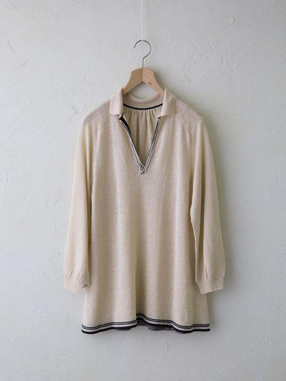 Linen Silk 衿付きチュニック