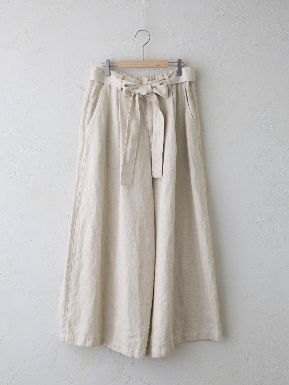 Light Linen Twill ワンタックワイドパンツ(Ladies'&Men's)