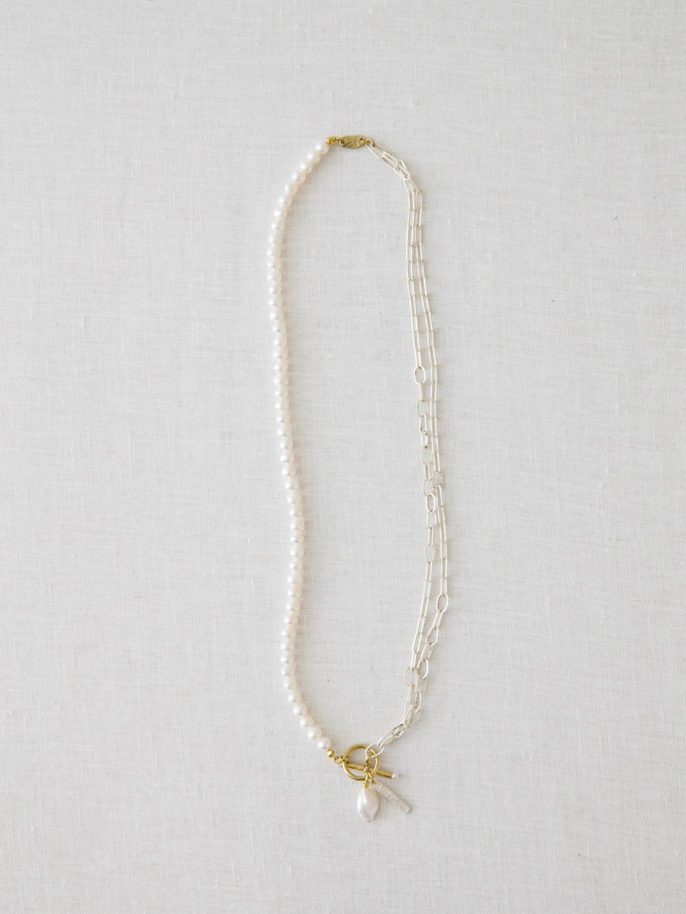 T BAR Pearl & Chain ネックレス
