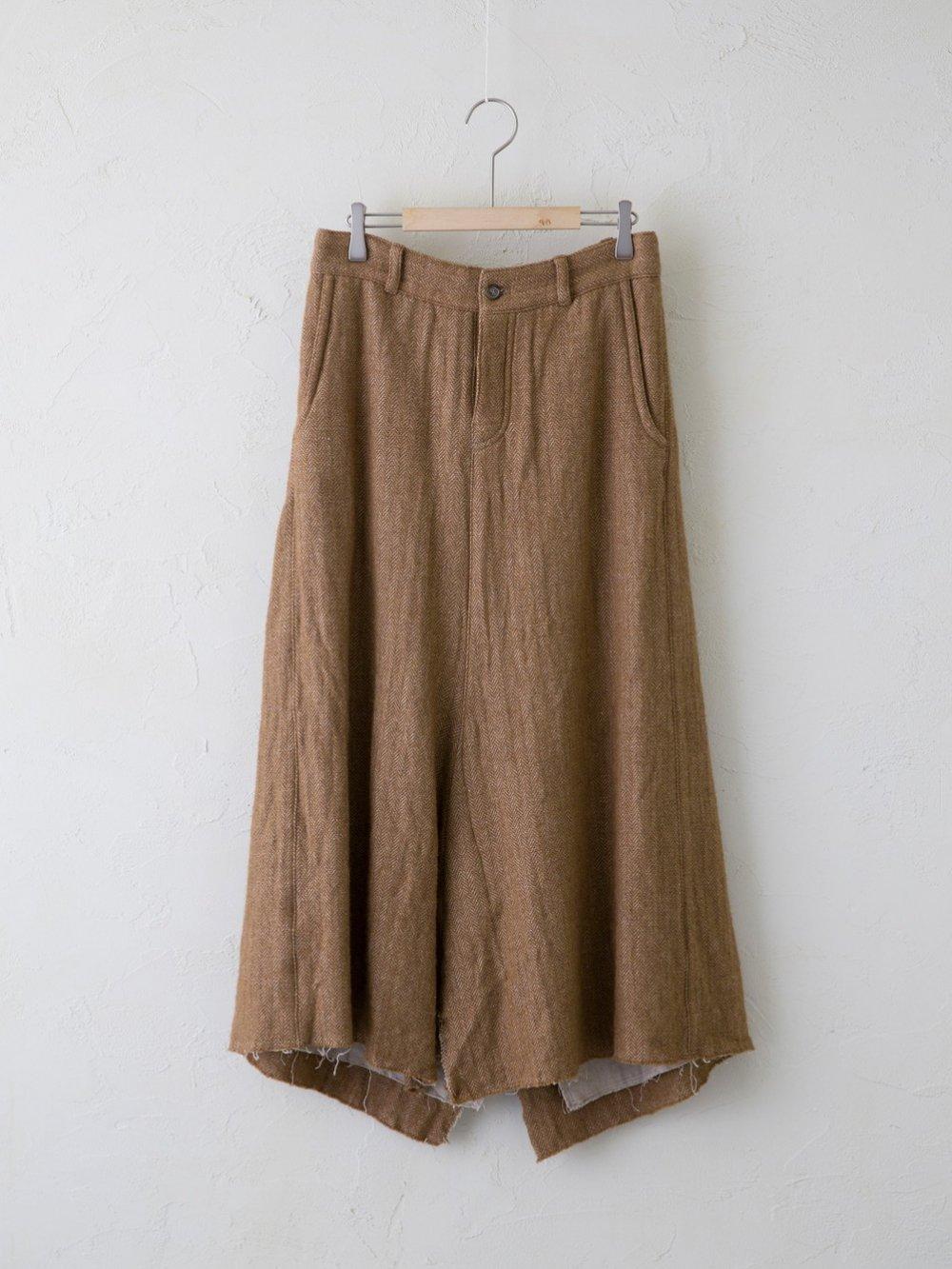 Wool Linen Herringbone スカート