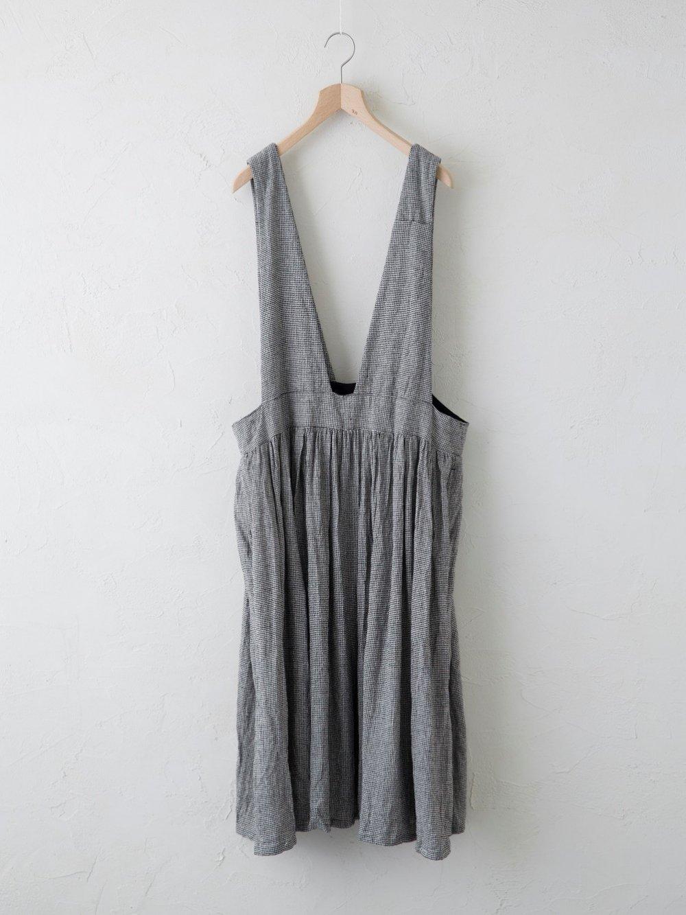 Silk Linen 千鳥 ジャンパースカート