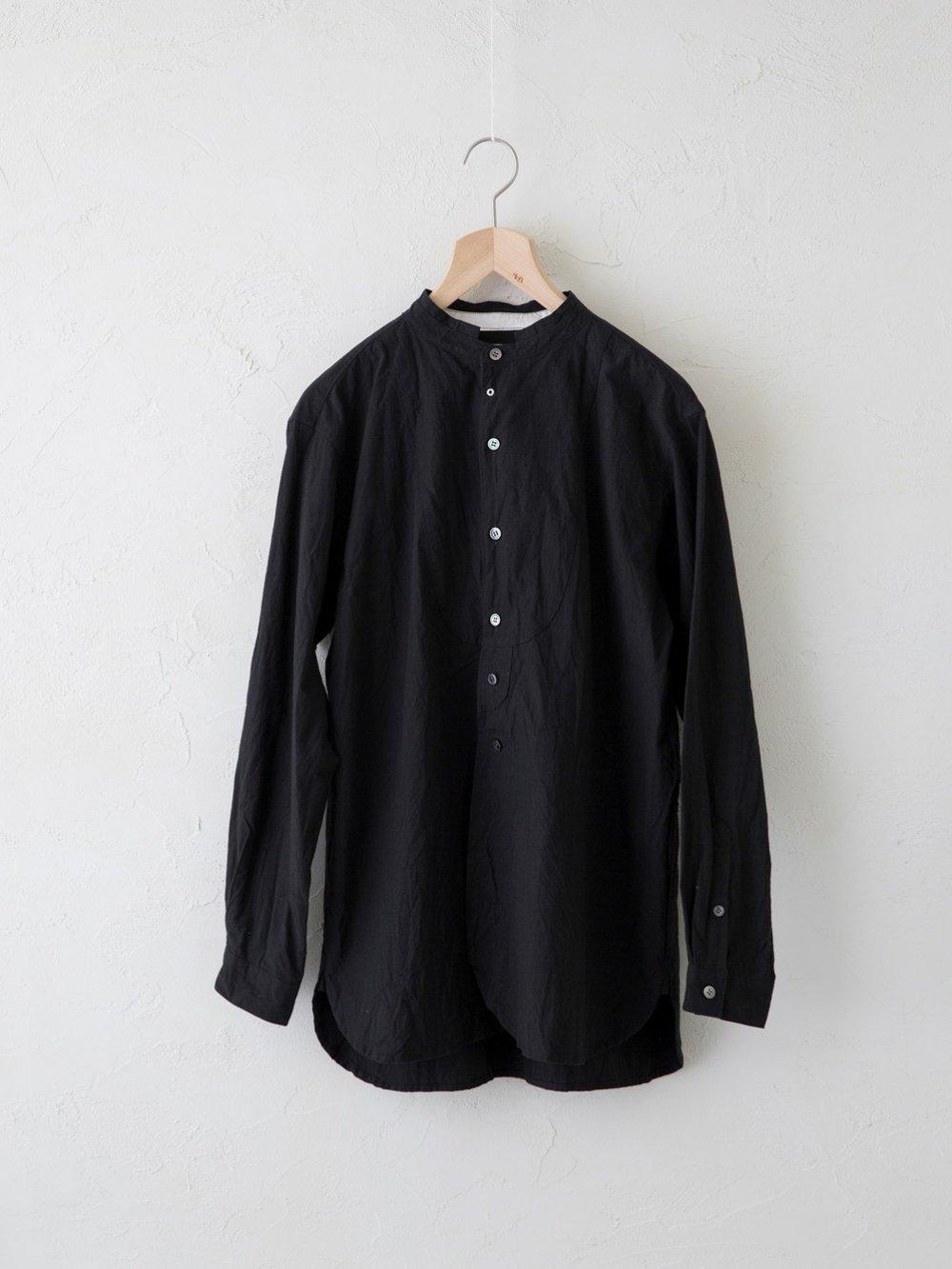 Cotton Linen Typewriter バンドカラーシャツ(Ladies' & Men's)