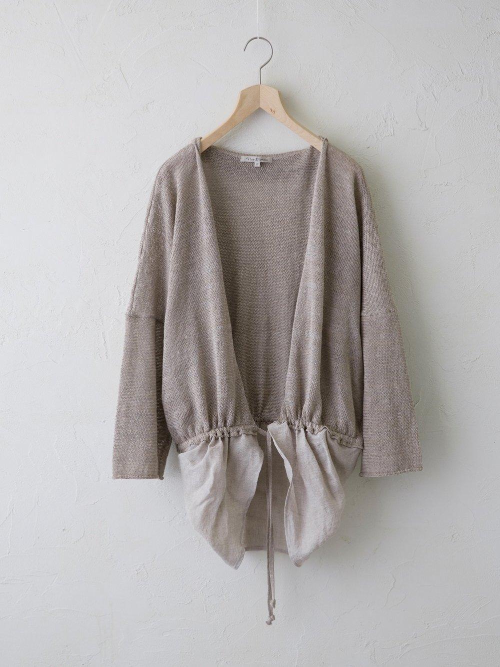 Linen Silk × KL 裾切替えカーディガン