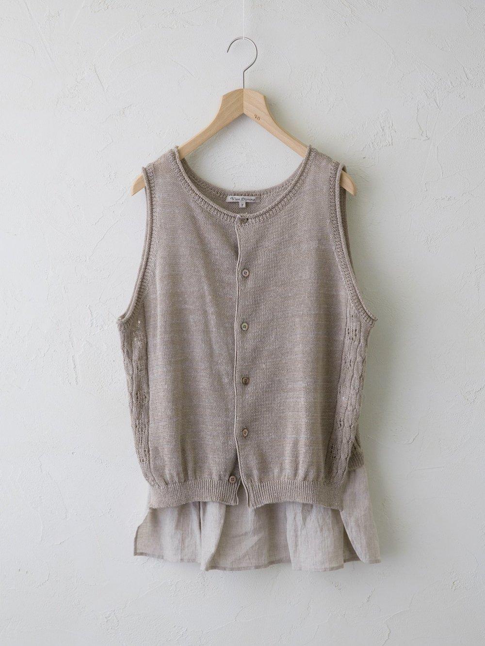 Linen Silk × KL 裾切替えジレ