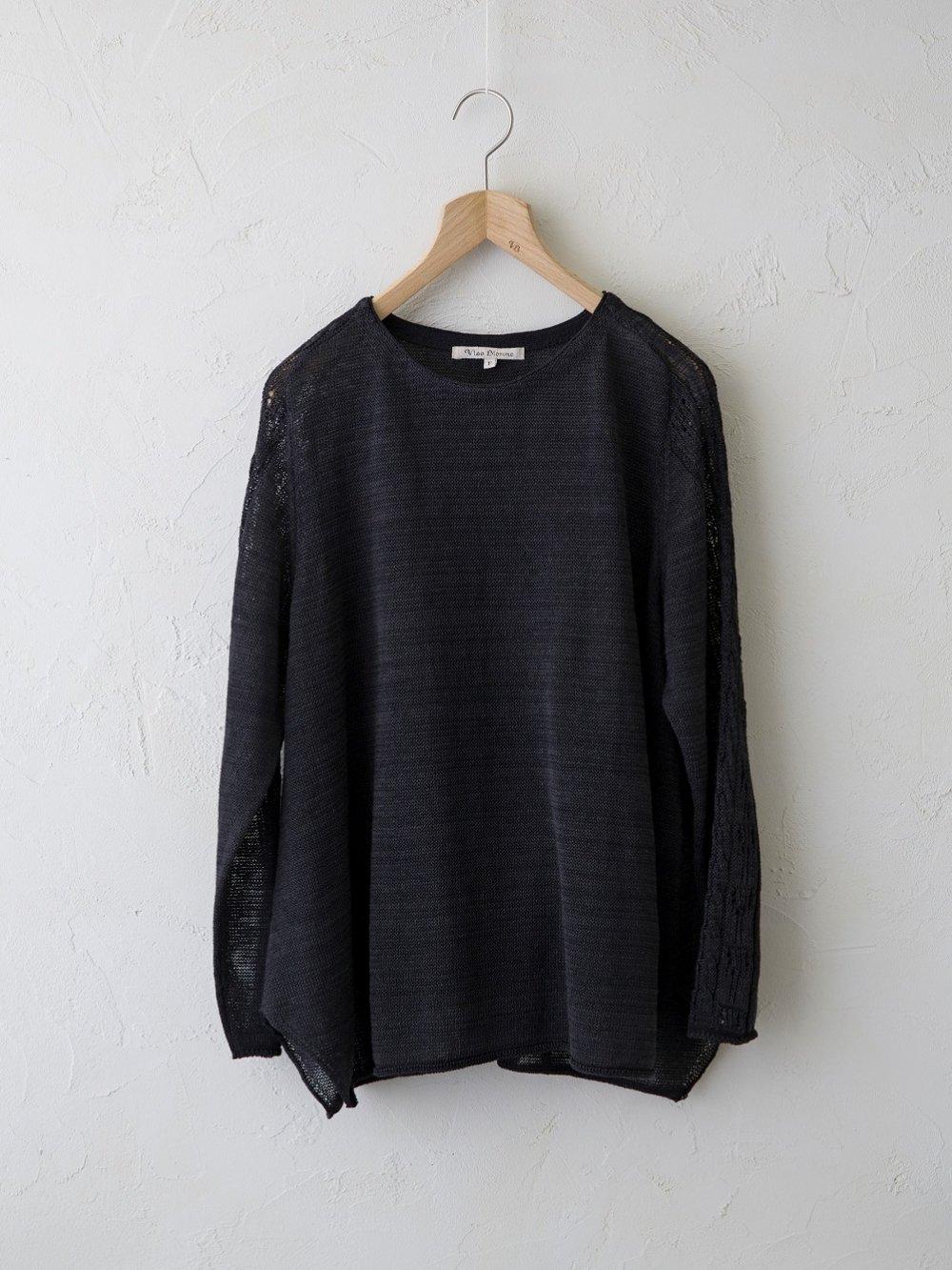 Linen Silk × KL 袖柄入りプルオーバー