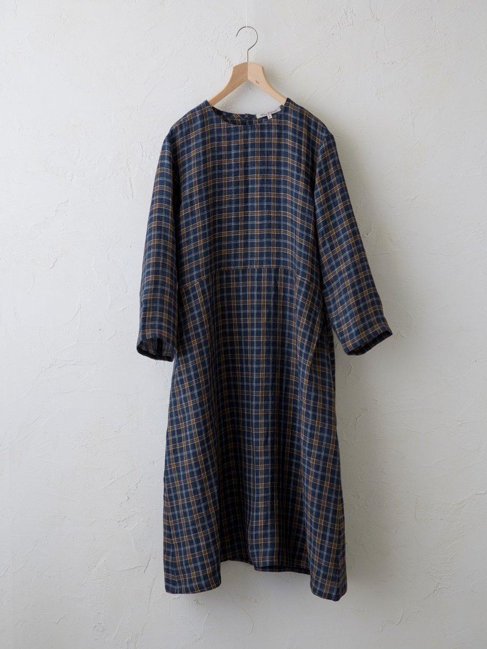 Vintage Check(平織+ドビー) ワンピース