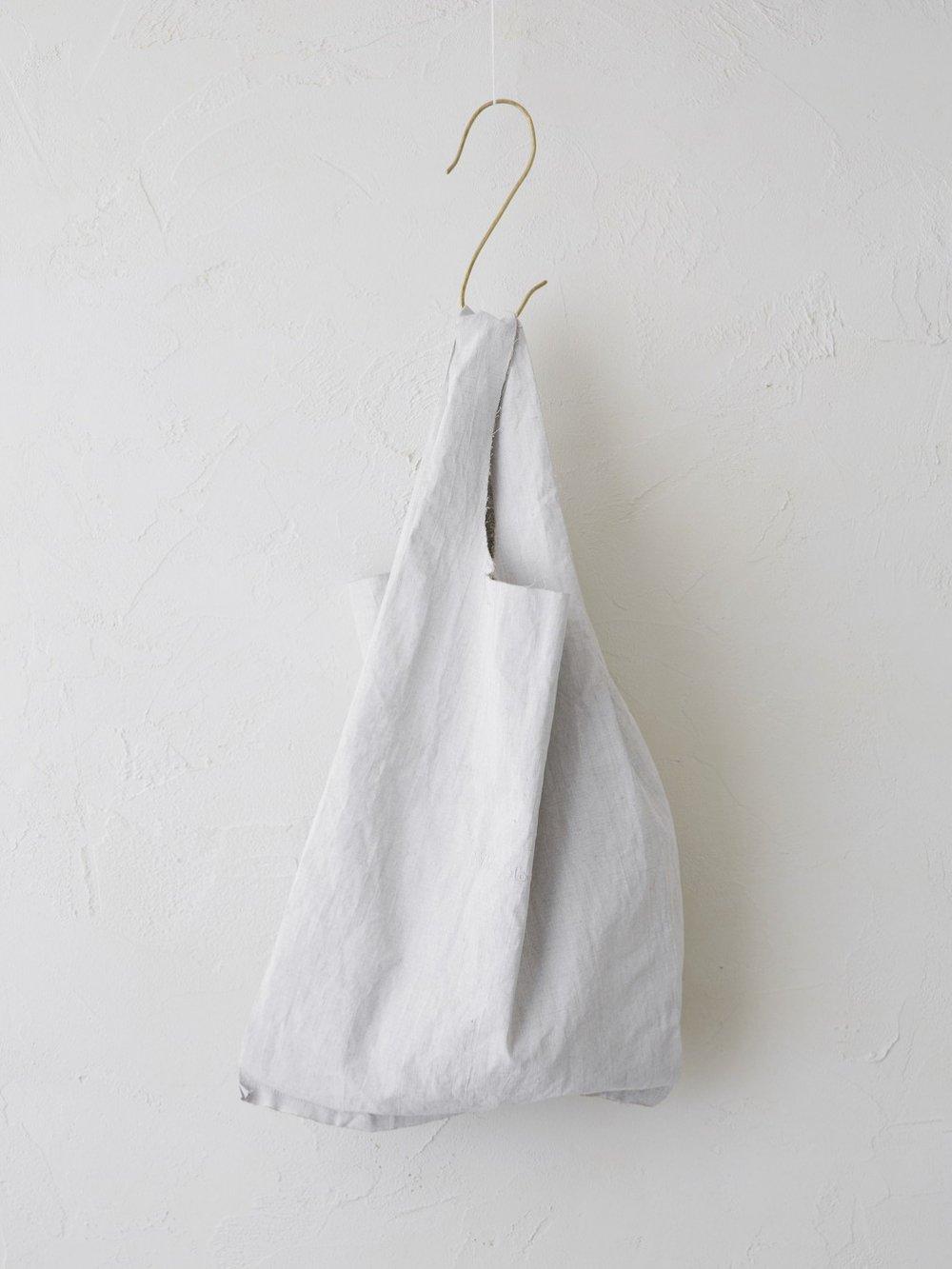 Belarus Linen(顔料プリント) ロゴ刺繍トートバッグ