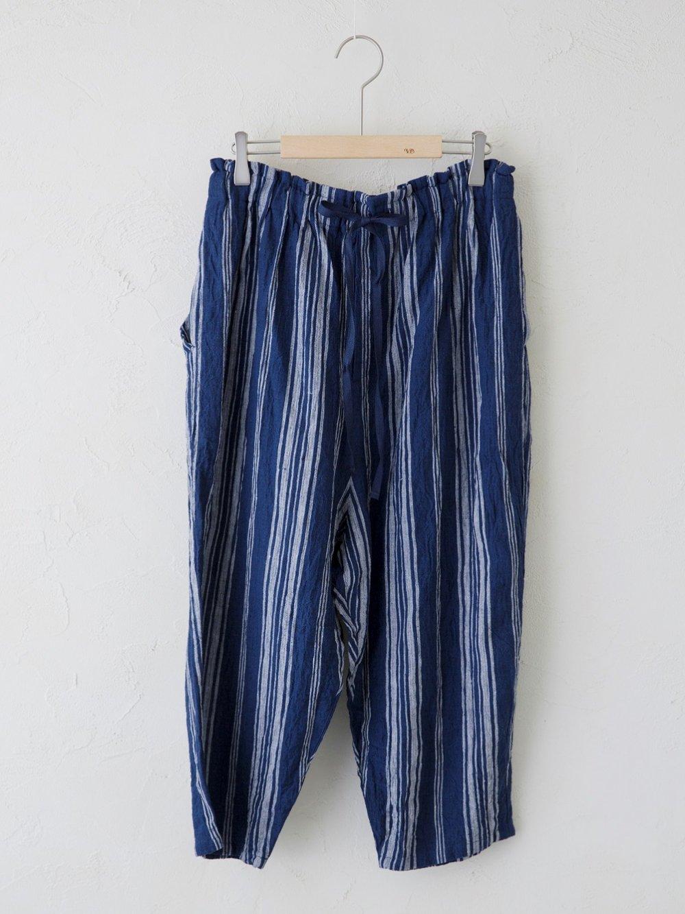 Linen Check / Stripe イージーパンツ