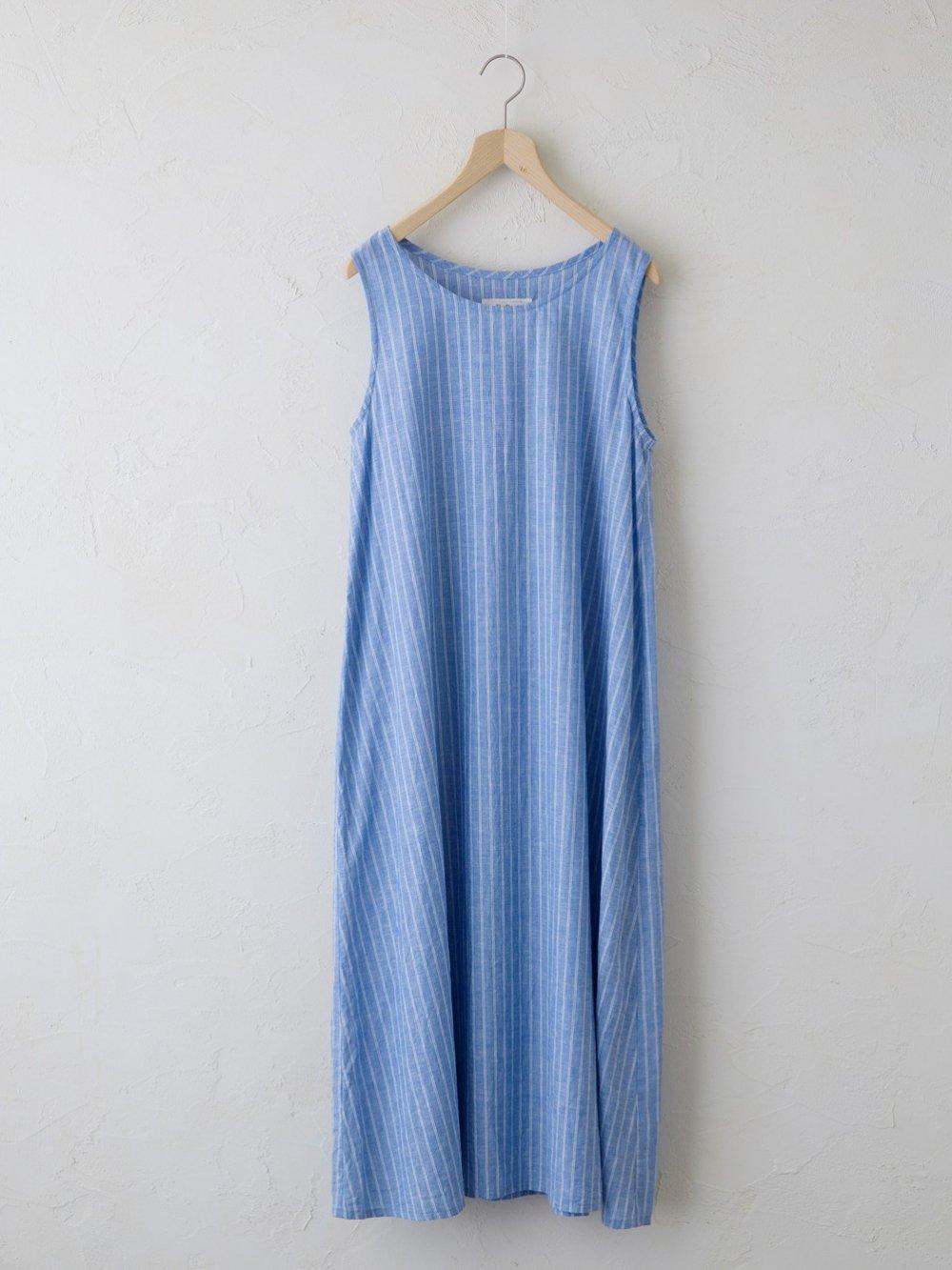 Cotton Linen Stripe レイヤードワンピース