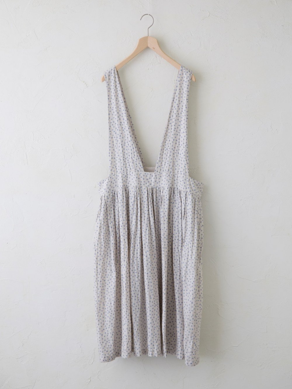 Light Cotton Ramie Elder Flower Print ジャンパースカート