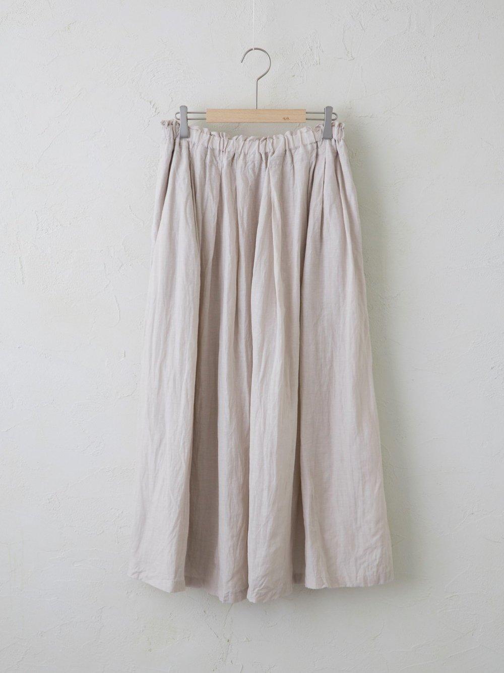 Linen Cellulose ギャザースカート