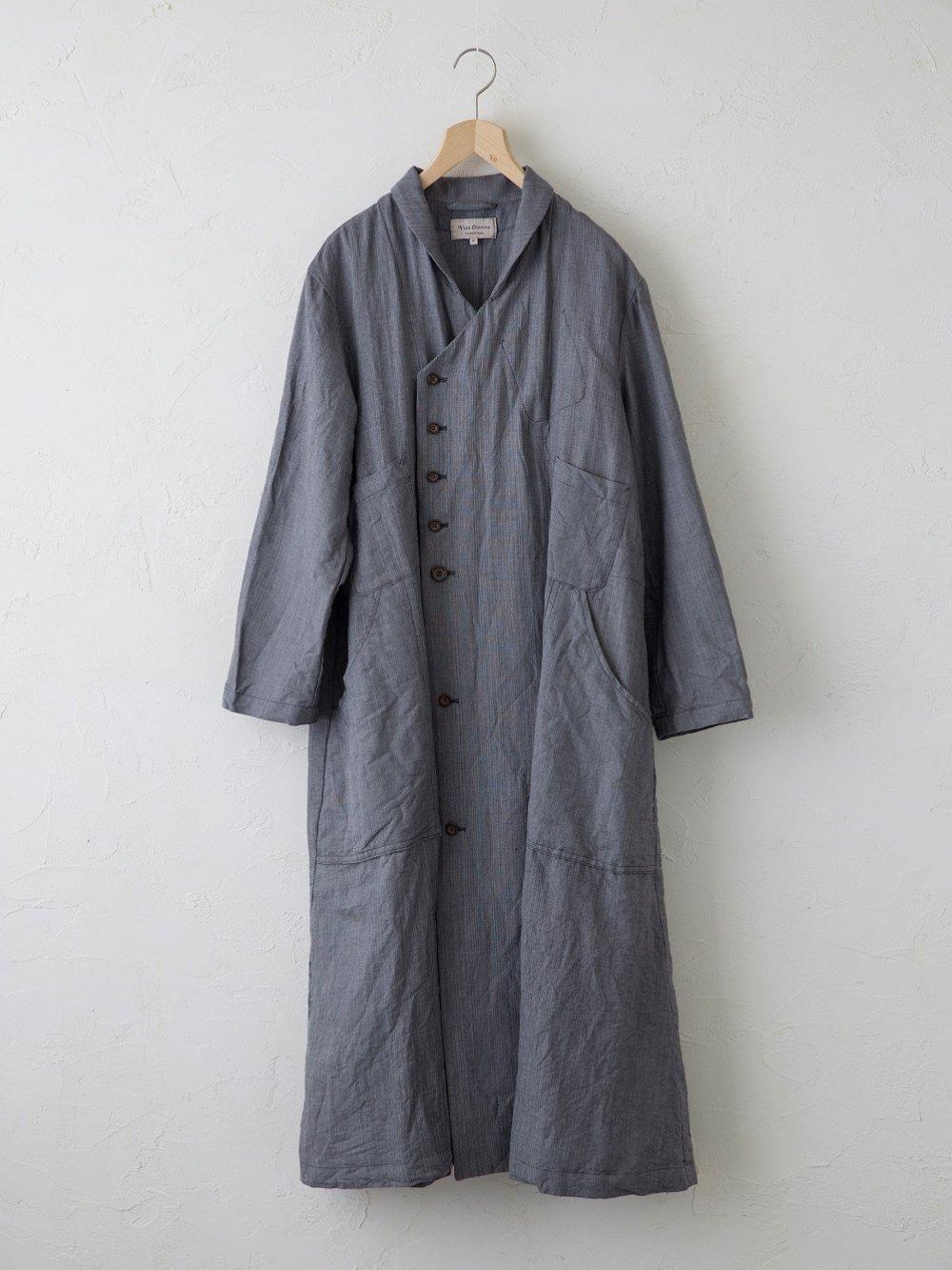 Linen Cotton Wool ラチネ Wフロントコートワンピース