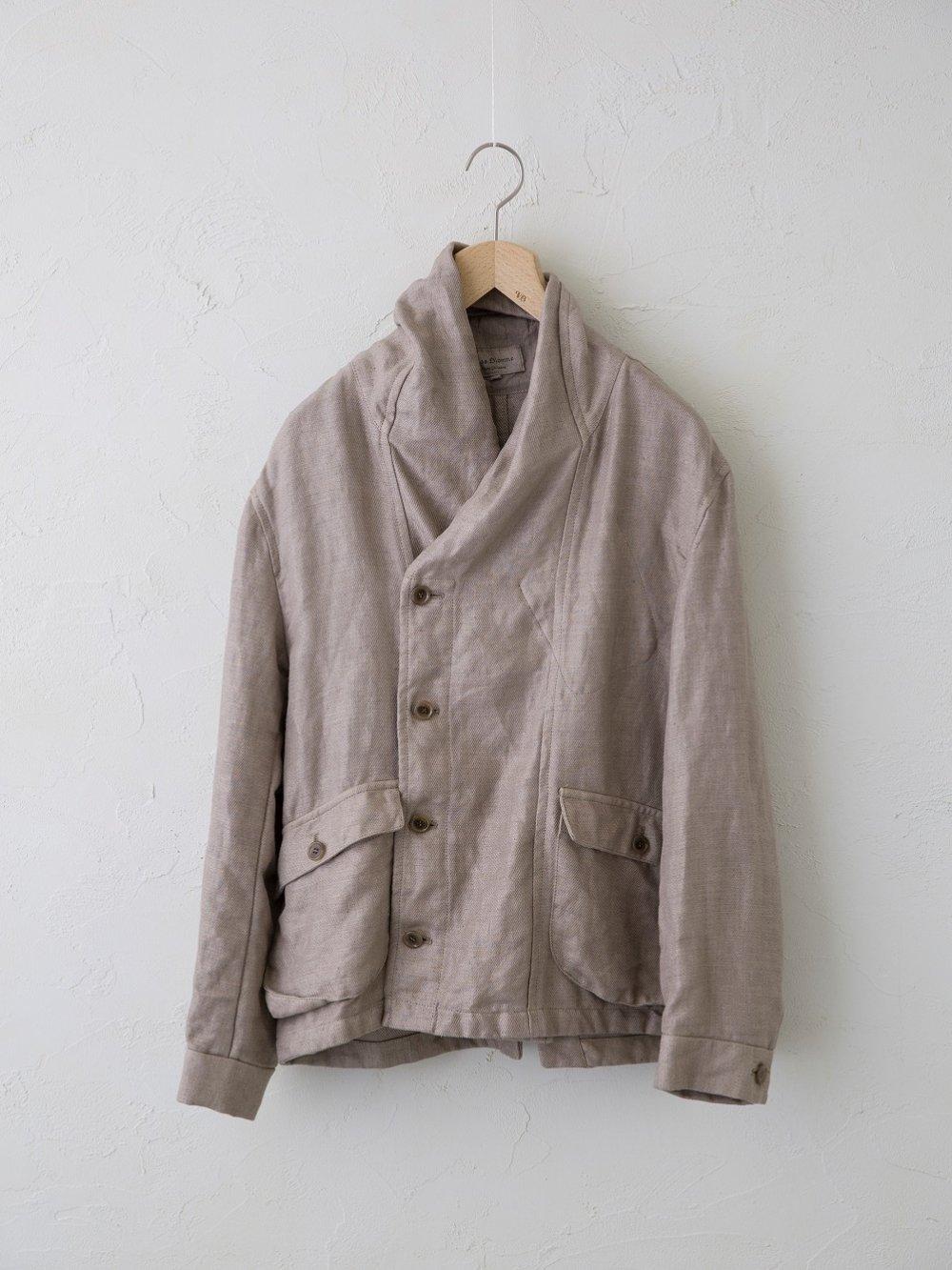 Vintage Linen Twill ショールカラーブルゾン