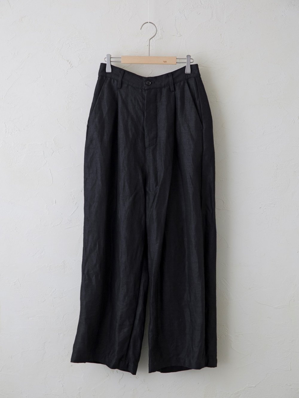 Vintage Linen Twill ワンタックパンツ
