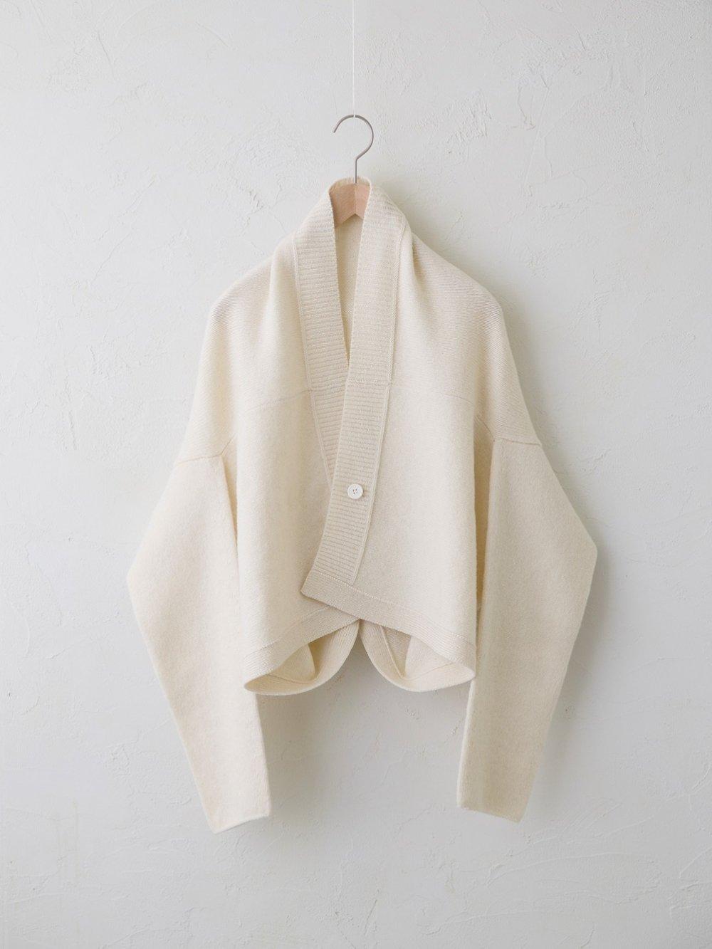 KL × Natural Color Wool ショートカーディガン
