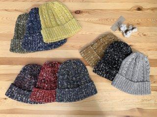 OUTDOOR  ORGANIC KNIT SOCKS CAP 奈良製 リサイクルコットンのニット帽