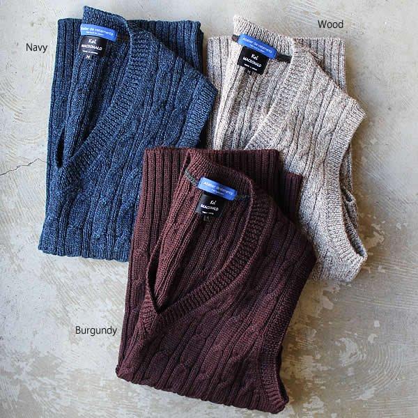 Atelier de vetements×Kei MACDONALD / cable stich british wool vest