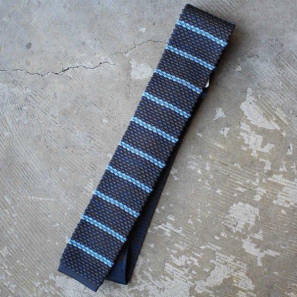 Ascot / Silk Knit Tie (ボーダー)