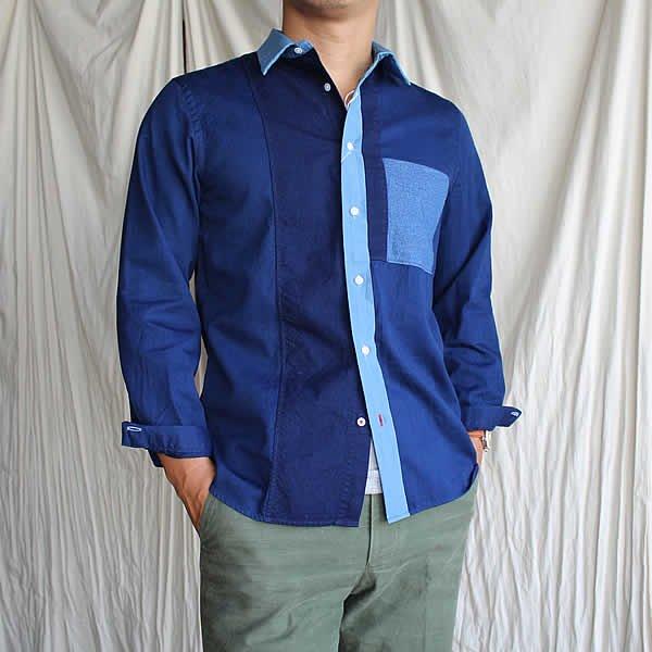 <img class='new_mark_img1' src='https://img.shop-pro.jp/img/new/icons41.gif' style='border:none;display:inline;margin:0px;padding:0px;width:auto;' />HAND ROOM / GIZA Cotton Short Regular Shirt (24.000→17.000税抜)