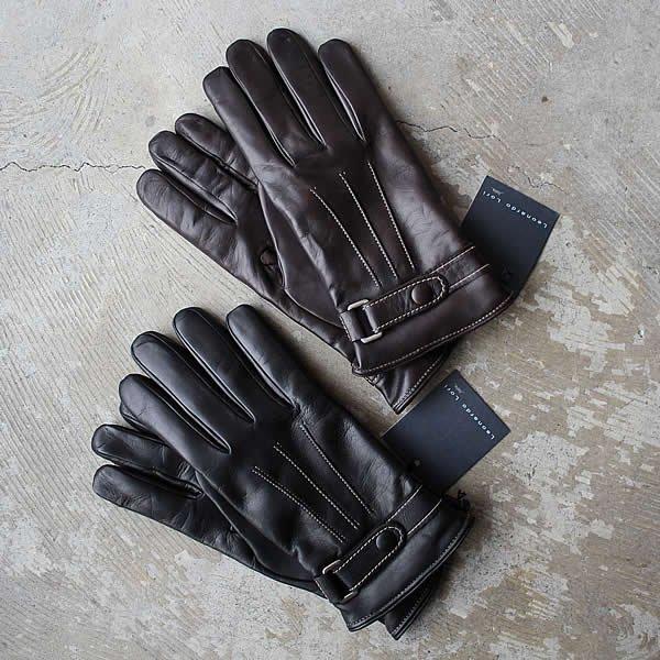 LEONARDO LORI / lamb nappa cashemere lining glove