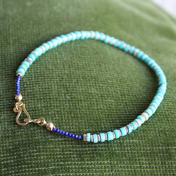 Le temps / Turquoise×14K Gold Filled Anklet