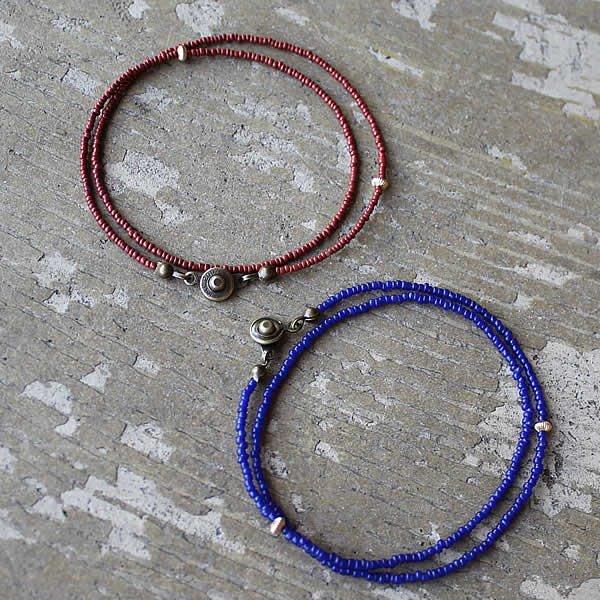 Le temps / Venetian Antique seed beads Double Bracelet