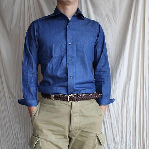 *受注生産*Atelier de vetements shirt / No.35  6oz okayama denim horizontal collar shirts