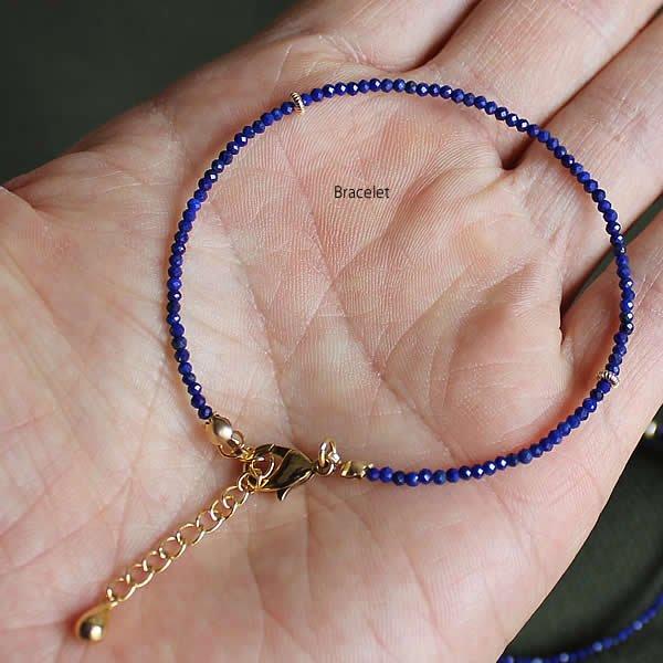 Le temps / Lapis lazuli Bracelet