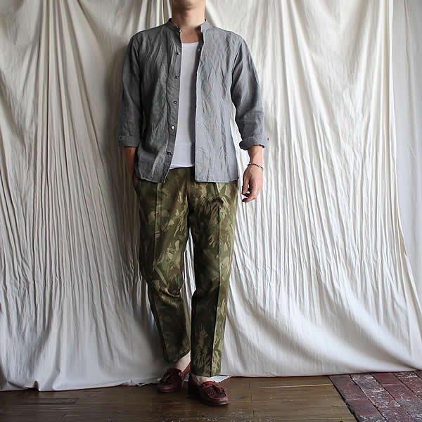 *受注生産*Atelier de vetements custom trousers / trousers No.8 (leaf pattern camouflage、2カラー)