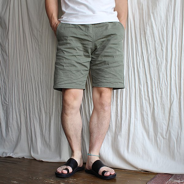 Atelier de vetements / easy dress shorts - dead stock HBT(ヘリンボーンツイル)-