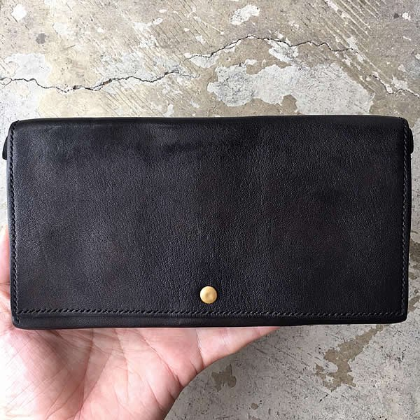 COLINA de passaros / handmade leather long wallet