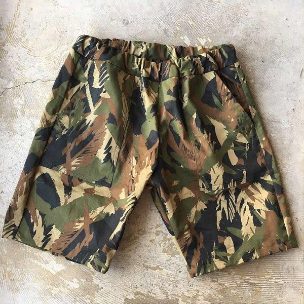 Atelier de vetements / easy dress shorts -fatigue(leaf pattern camouflage)-