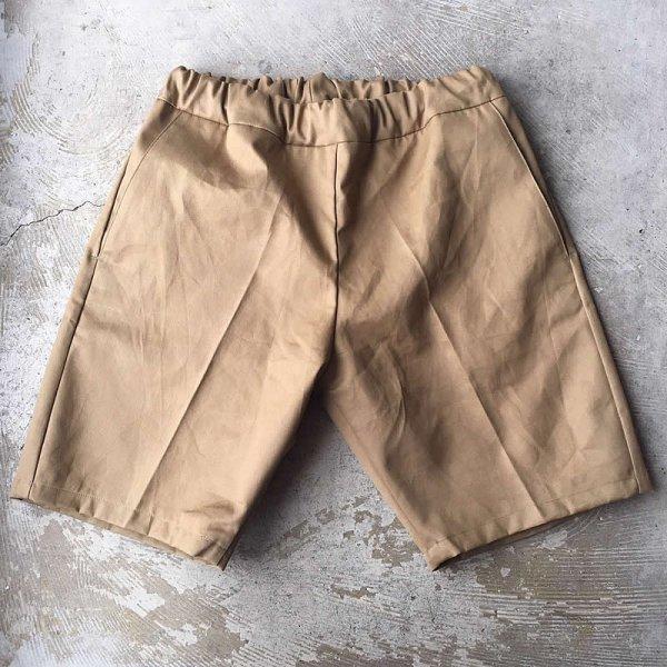 Atelier de vetements / easy dress shorts -(イギリス製デッドストックコットン生地)-