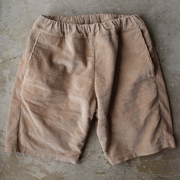 Atelier de vetements / easy dress shorts -(国産デッドストック太畝コーデュロイ生地)-