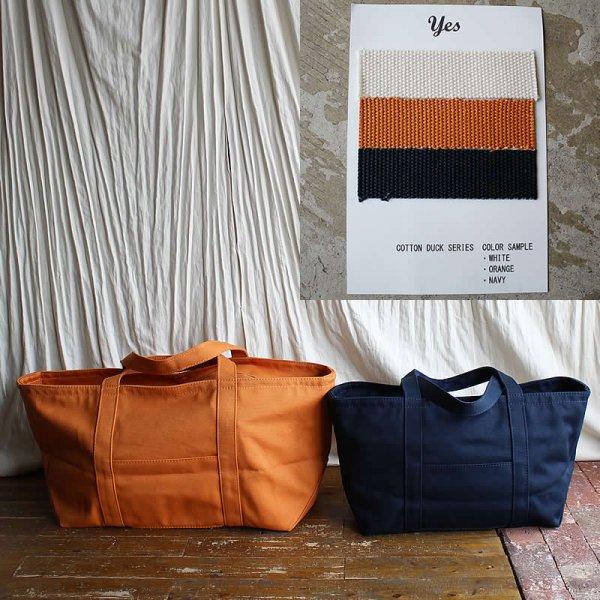 *受注生産*yes / COTTON DUCK CARRY BAG (3色、M / L 2サイズ)