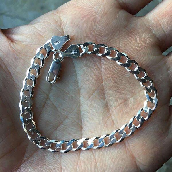 50s dead stock silver bracelet no,20 (Italy)