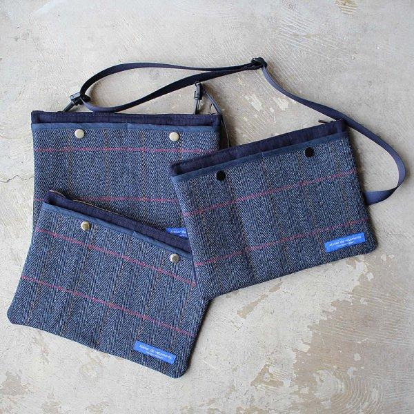 Atelier de vetements / shoulder bag (British tweed fabric)