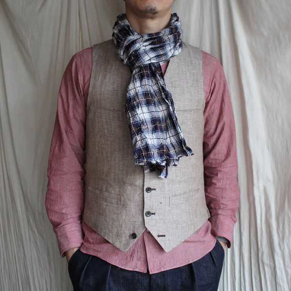 <img class='new_mark_img1' src='https://img.shop-pro.jp/img/new/icons59.gif' style='border:none;display:inline;margin:0px;padding:0px;width:auto;' />Atelier de vetements / cotton linen shirring stole