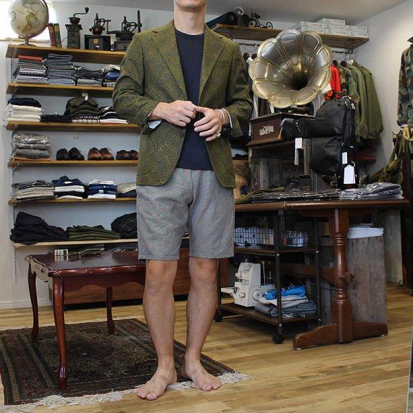 Atelier de vetements / easy dress shorts -italian linen-