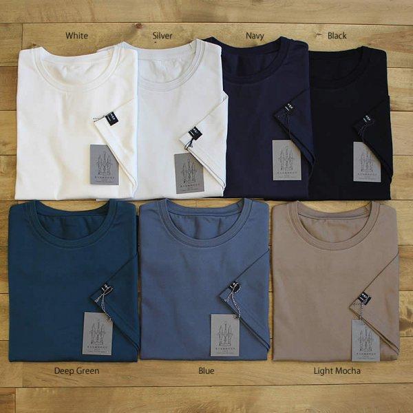 東大阪繊維研究所 / HOFI-008 インド超長綿天竺 タック襟丸首Tシャツ