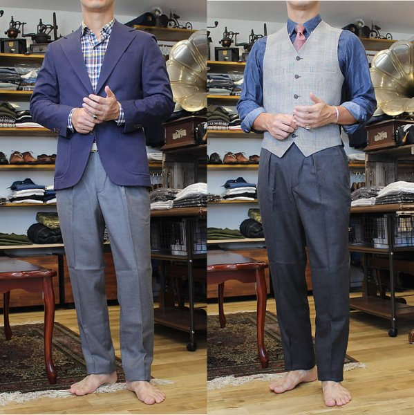 D.C. White / one tuck wool dress pant