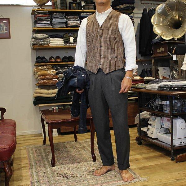 Atelier de vetements / waistcoat -cashmere×merino wool dead stock cloth -